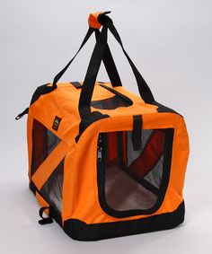 Take a look at this Orange 360-Degree Vista Folding Pet Crate by Pet Life on #zulily today!