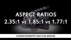 I go over some of the pros and cons associated with each type of aspect ratio…