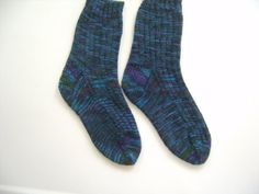 Hand Knit Womens Socks 7 1/2 by SpruceCottageKnits on Etsy, $32.00