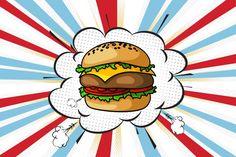Pop art pet burger by petitetgb