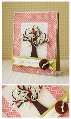 adorable card layout using the cricut