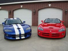 ~'91 Dodge Viper GTS (Blue) & '05 Dodge Viper SRT10 (Red)~ for my hubby