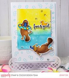 Jennifer Mcguire Ink, Magnolia Design, Creative Company, Bad Cats, Platypus, Cool Cards, Card Sizes, My Design, Card Making