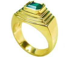 Mens Muzo emerald rings