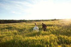 I better get to literally run through a field in my wedding dress