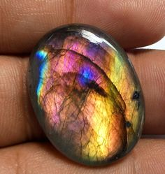 Super high grade Purple labradorite cabs 31x21x6mm - Oval cabochon - Smooth Labradorite purple stone