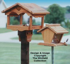 Bird Feeders Wood Patterns