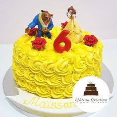 Beauty And The Beast Cake Birthdays, Beauty And Beast Birthday, Beauty And The Beast Theme, Princess Belle Cake, Beautiful Birthday Cakes, Easy Cake Decorating, Cakes And More, Themed Cakes, Birthday Parties