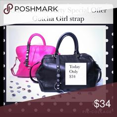 The New Patent Pending purse strap/hook/accessory! The Gotcha Girl strap is our new patent pending purse strap designed to keep your bag safe from theft, damage, bacteria while bringing fashion to function with beautiful changeable designer snaps to match your fashion or passion.  It will quickly become your bag's new best friend. Accessories