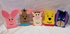 Cute DIY idea: Winnie the Pooh and Friends Party Favors Treat Goody Loot Favors Sacks Gift Bags Tigger Pigglet Roo Eeyore