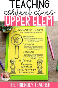 Lesson plans and ideas for teaching context clues in the upper elementary classroom. 3rd grade, 4th grade, and 5th grade teachers love these lesson plans and ideas for teaching context clues during back to school season, or all throughout the school year. These lessons are great for whole group or small group instruction. Fun Test, Test Prep, Close Reading Strategies, Listen To Reading, 5th Grade Teachers, Spelling Activities, Context Clues, Reading Centers, Mentor Texts