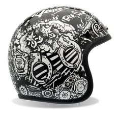 Bell RSD Trouble Custom 500 Harley Motorcycle Helmet - Black/White / X-Large. Size: X-Large. Bell RSD Trouble Custom 500 Harley Helmet for Adult. Cruiser Motorcycle Helmet, Open Face Motorcycle Helmets, Motorcycle Riding Gear, Cafe Racer Helmet, Open Face Helmets, Biker Gear, Motorcycle Paint, Bike Helmets, Motorcycle Jackets