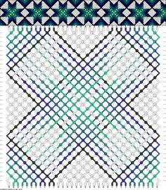34 strings 6 colors #66687 - friendship-bracelets.net