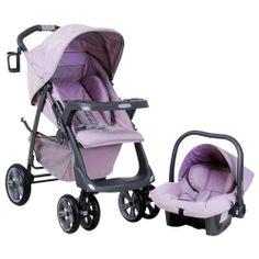 Carrinho de Bebê Travel System Burigotto Linea + Bebê Conforto Touring - Ametista Burigotto - Carrinhos de Bebê - Bebê Store