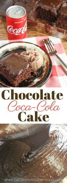 Chocolate Coca-Cola Cake is a delicious homemade dessert. The cake tastes just like Cracker Barrel's cake. #Crackerbarrelcake #cake #Chocolatecake #dessert #holidays #holiday #chocolate