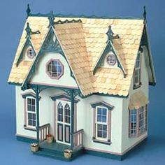Orchid Victorian Dollhouse Kit with Divider Walls and Shingles   Overstock™ Shopping - Great Deals on Dollhouses