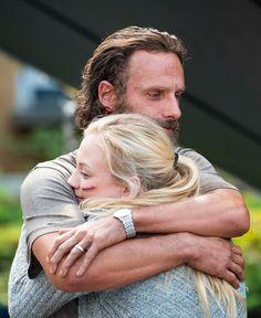 Rick Grimes hugging Beth Greene