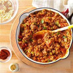 Mom's Spanish Rice Taste of Home recipe