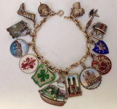scottie dog puppy slide bead charm bracelet bangle PD European silver chamilia