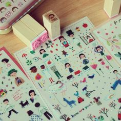 Korean stationery stickers and stamps
