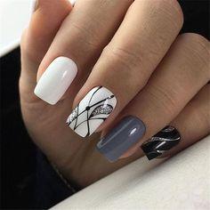 most popular color mixing nail art - Page 64 of 105 - Inspiration Diary Pink Nail Art, Pink Nails, Gel Nails, Acrylic Nails, Yellow Nails, Marble Nails, Gorgeous Nails, Love Nails, Pretty Nails