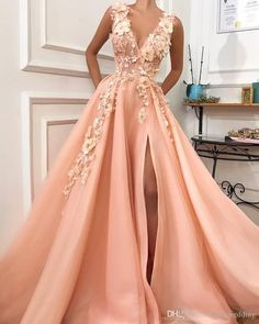Graduation dresses long - Charming V neck Long Prom Dress,Tulle Evening Party Dress with Flower – Graduation dresses long V Neck Prom Dresses, Tulle Prom Dress, Maxi Dresses, Party Dresses, Long Dresses, Dress Long, Summer Dresses, Lace Dress, Woman Dresses