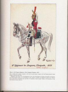 Dragoons: Plate 11: 9th Dragoon Regiment, Elite Company Trumpeter, 1807.