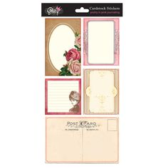 Pretty in Pink Journal Stickers