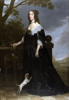 Elizabeth Stuart (1596-1662) painted 1642  Gerard van Honthorst.  Legend has it that the Dutch-style manor, Ashdown House, was built for William, Lord Craven to serve as an exquisite bower for his beloved Elizabeth Stuart, daughter of James I and Queen of Bohemia for one short winter in 1619 before she and her husband, Frederick V were expelled and forced into exile (Bohemia was the old name for the Czech Republic).