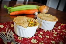 Gluten-free vegan pot pie - a batch of these, frozen, might just be a certain college students birthday present!