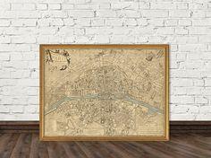 Map of Paris and surroundings  Plan de Paris ses by AncientShades