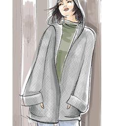Modèle veste à capuche Femme