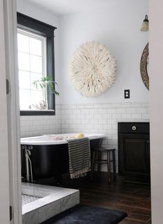 tile and big tub