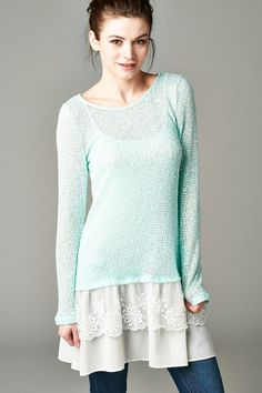 Kate Pullover in Aspen Mint