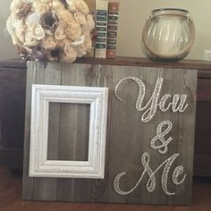 You and me string art picture frame