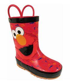 Loving this Red Elmo Rain Boot - Kids on #zulily! #zulilyfinds