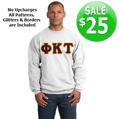 Fraternity Crewneck Sweatshirt $25 SALE #somethinggreek #anniversary #fraternity #sorority #apparel