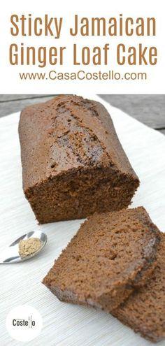 Jamaican Desserts, Jamaican Recipes, Jamaican Cuisine, Jamaican Dishes, Loaf Recipes, Baking Recipes, Cake Recipes, Ginger Bread Loaf, Jamaican Ginger Cake