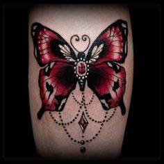neo traditional butterfly tattoo - Google Search