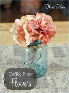 Easy Coffee Filter & Watercolor Flowers- perfect for Fall Projects!