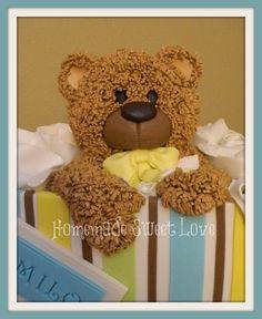 Cute baby bear  Cake by HomemadeSweetLove