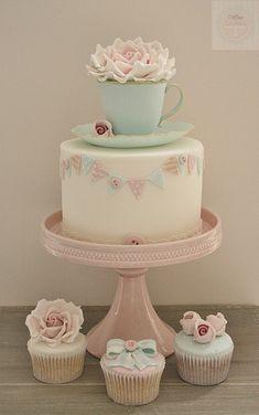 new class - edible teacup & saucer cake