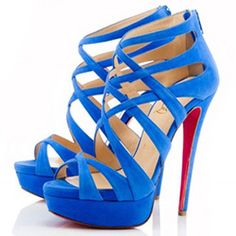 Blue Christian Louboutin Balota Sandals 140mm