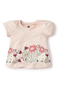 Tea+Collection+'Flor+de+Cactus'+Graphic+Tee+(Baby+Girls)+available+at+#Nordstrom