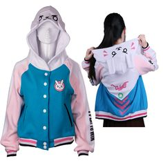 Cheap halloween jacket, Buy Quality jackets for women directly from China jacket for winter Suppliers: D.va OW Sweatshirts Cotton Hoodies Baseball Coats Dva Autumn Clothes Winter Jackets For Women Coat Halloween Party Hoodie Sweatshirts, Fleece Hoodie, Hoodie Jacket, Kawaii Pullover, Kawaii Sweater, Western Outfits, Winter Jackets Women, Coats For Women, Pull Kawaii