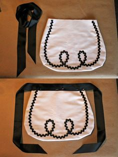 Alice In Wonderland apron tutorial, DIY