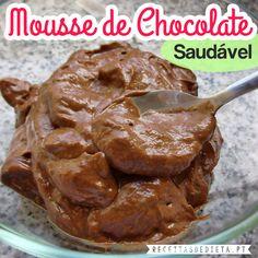Receitas de Dieta: Mousse de Chocolate Saudável