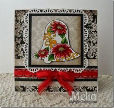 Day 9 of 25 Days Christmas Card. Details: http://www.mypapercrafting.com/2013/12/day9-25days-2013-bellcard.html