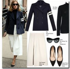 """""""Olivia Palermo at Tibi show"""" by fattie-zara ❤ liked on Polyvore"""