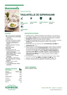 thermomix - Tagliatelle ze szparagami Make It Simple, Food And Drink, Cooking, How To Make, Delicious Food, Thermomix, Baking Center, Kochen, Yummy Food